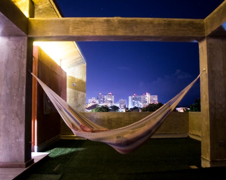Terrasse sur le toit de l'hôtel Dream Inn PR à San Juan
